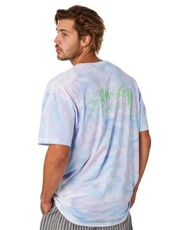PURPLE MENS CLOTHING STUSSY TEES - ST093011PUR