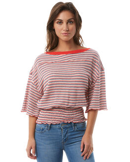 RED WOMENS CLOTHING FREE PEOPLE FASHION TOPS - OB7535566600