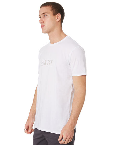WHITE MENS CLOTHING STACEY TEES - STTEETEAMWHT