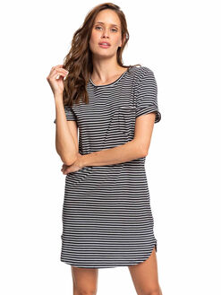 ANTHRACITE MARINA WOMENS CLOTHING ROXY DRESSES - ERJKD03265-XKWK