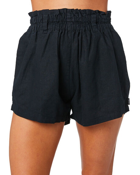 BLACK WOMENS CLOTHING AFENDS SHORTS - W183353-BLK