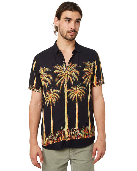 BLACK MENS CLOTHING ROLLAS SHIRTS - 15448100