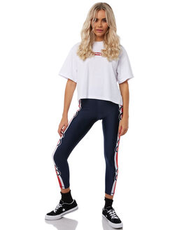 WHITE WOMENS CLOTHING STUSSY TEES - ST181008WHT