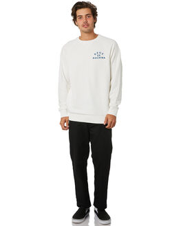 VINTAGE WHITE MENS CLOTHING DEUS EX MACHINA JUMPERS - DMW98028BVNWHT