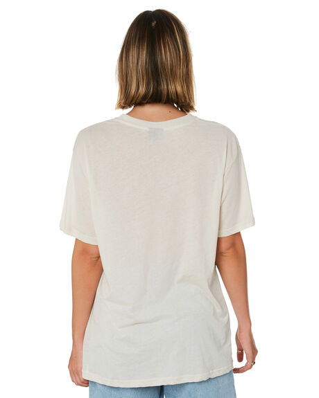 OFF WHITE WOMENS CLOTHING STUSSY TEES - ST192005OWHT
