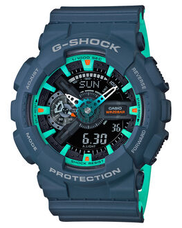 MATTE NAVY MENS ACCESSORIES G SHOCK WATCHES - GA-110CC-2ADRMNVY
