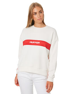 WHITE AND RED WOMENS CLOTHING HUFFER JUMPERS - WCR01S4801WHT