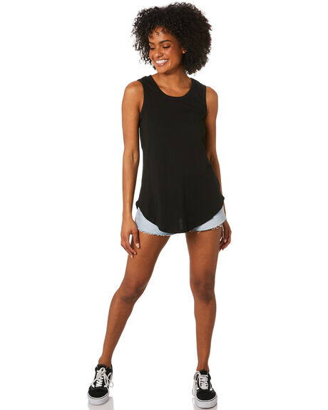 BLACK WOMENS CLOTHING BETTY BASICS SINGLETS - BB266BLK