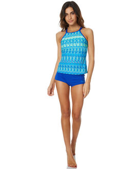 BLUE MULTI WOMENS SWIMWEAR ZOGGS BIKINI TOPS - 2059170BLMLT