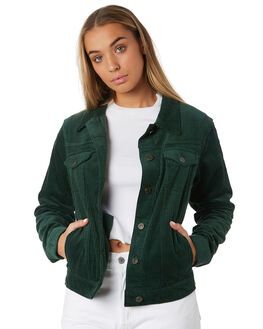 BOTTLE GREEN WOMENS CLOTHING THE HIDDEN WAY JACKETS - H8182382BOTTL