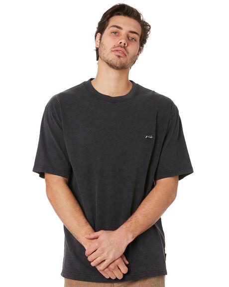 BLACK MENS CLOTHING RUSTY TEES - TTM2263BLK