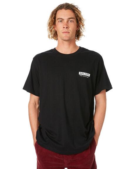 BLACK MENS CLOTHING AFENDS TEES - M182015BLK