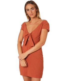 RUST WOMENS CLOTHING MINKPINK DRESSES - MP1806472RUST