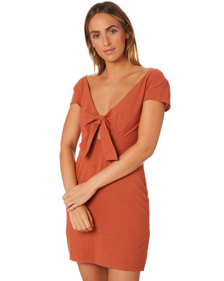 e8128f67682ed Minkpink Amore Sweetheart Dress - Rust