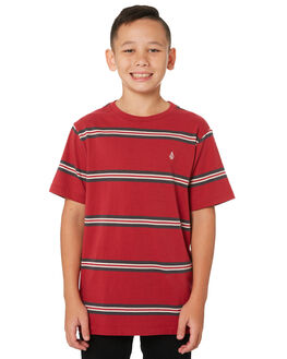 BURGUNDY KIDS BOYS VOLCOM TOPS - C0111901BUR