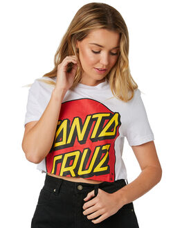 WHITE WOMENS CLOTHING SANTA CRUZ TEES - SC-WTD8738WHI