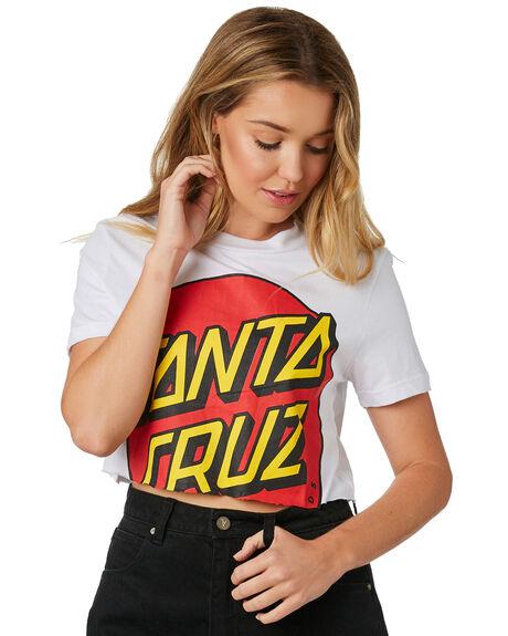 WHITE WOMENS CLOTHING SANTA CRUZ TEES - SC-WTD8738WHI