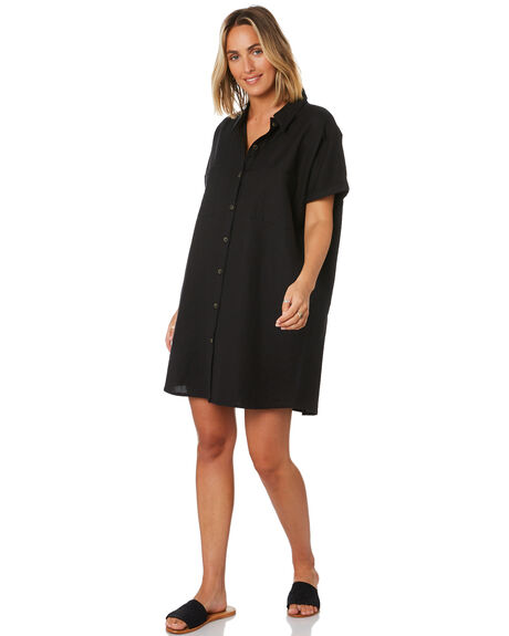 WASHED BLACK WOMENS CLOTHING SWELL DRESSES - S8201455BKWSH