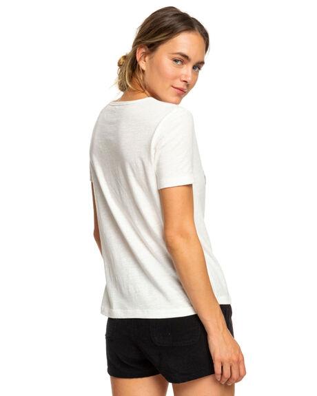MARSHMALLOW WOMENS CLOTHING ROXY TEES - ERJZT04411WBT0