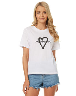 WHITE WOMENS CLOTHING CHEAP MONDAY TEES - 0442244WHT
