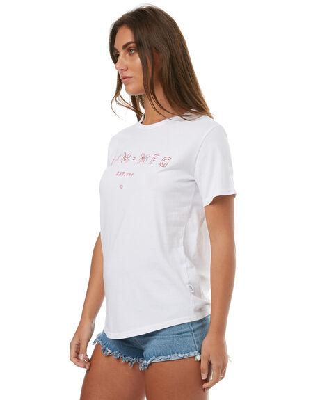 WHITE WOMENS CLOTHING RPM TEES - 7HWT01AWHT