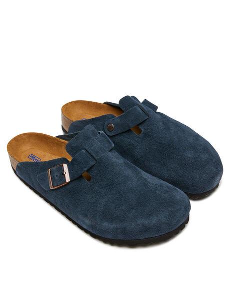 NAVY WOMENS FOOTWEAR BIRKENSTOCK FLATS - 1012370WNVY
