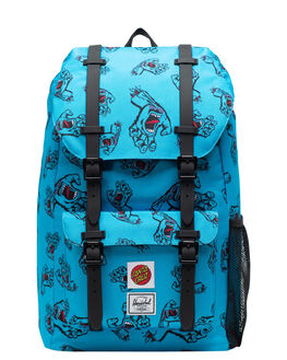 SANTA CRUZ BLUE KIDS BOYS HERSCHEL SUPPLY CO BAGS + BACKPACKS - 10589-02573-OSSCB