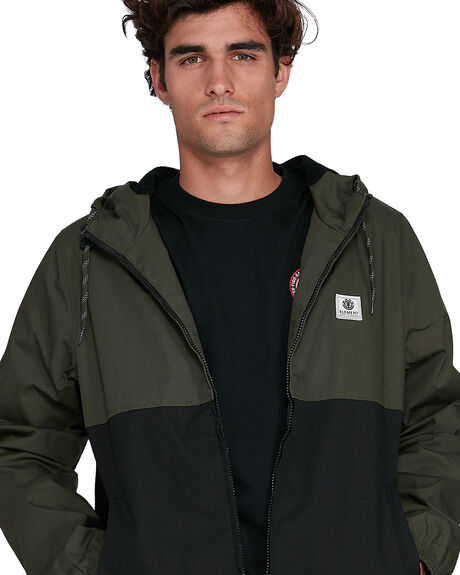 FLINT BLACK MENS CLOTHING ELEMENT JACKETS - EL-502452-IFL
