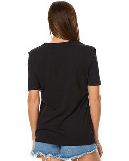 BLACK WOMENS CLOTHING HURLEY TEES - AGTSSTTM00A