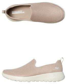 TAUPE WOMENS FOOTWEAR SKECHERS SLIP ONS - 15600TPE