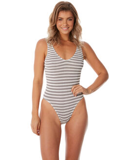 STONE WHITE WOMENS SWIMWEAR BOND EYE ONE PIECES - BOUND004STNWT
