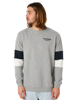 GREY MARLE MENS CLOTHING HUFFER JUMPERS - MCR83S2801GRYM