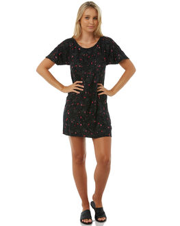 BLACK WOMENS CLOTHING VOLCOM DRESSES - B1311875BLK