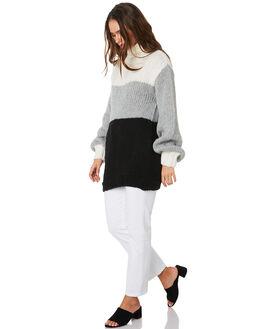 WHITE GREY BLACK WOMENS CLOTHING MLM LABEL KNITS + CARDIGANS - MLM537AMUL