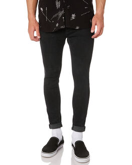 GHOST BLACK MENS CLOTHING A.BRAND JEANS - 813444692