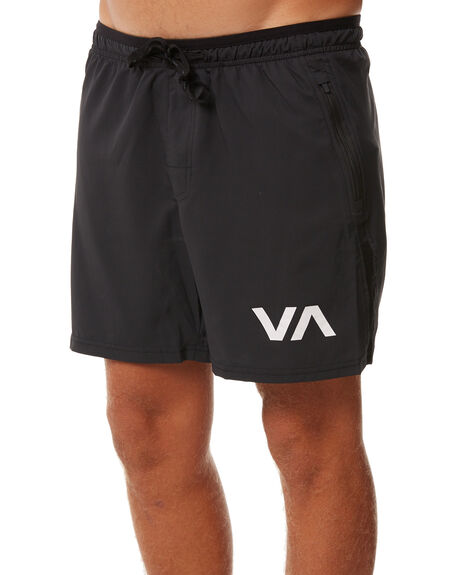 BLACK MENS CLOTHING RVCA SHORTS - R361318BLK