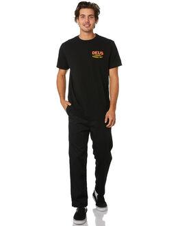 BLACK MENS CLOTHING DEUS EX MACHINA TEES - DMW91994CBLK
