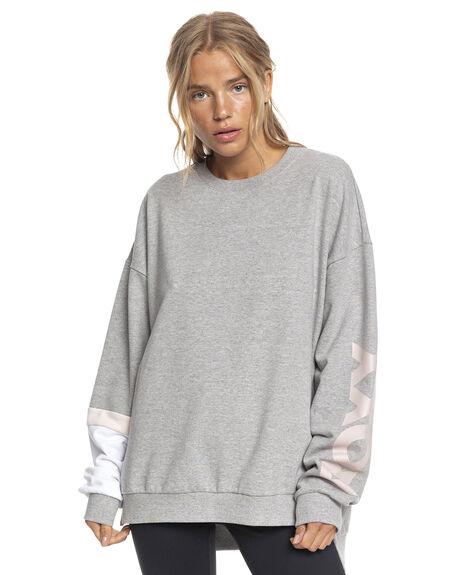 HERITAGE HEATHER WOMENS CLOTHING ROXY HOODIES + SWEATS - ERJFT04505-SGRH