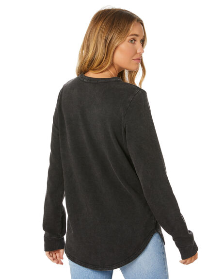 BLACK WOMENS CLOTHING SILENT THEORY JUMPERS - 6053022BLK