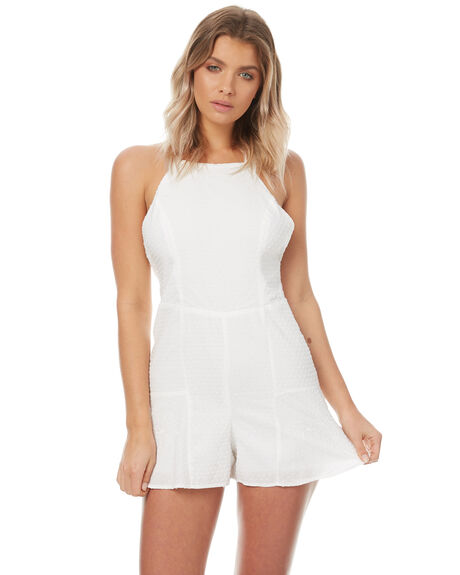 WHITE OUTLET WOMENS THE HIDDEN WAY PLAYSUITS + OVERALLS - H8174449WHT