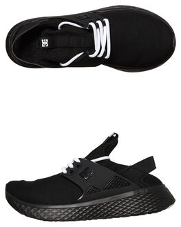 BLACK WHITE WOMENS FOOTWEAR DC SHOES SNEAKERS - ADJS700051BKW