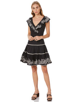BLACK WOMENS CLOTHING TIGERLILY DRESSES - T305425BLK