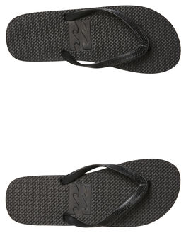 BLACK BLACK MENS FOOTWEAR BILLABONG THONGS - 9681939BKBK