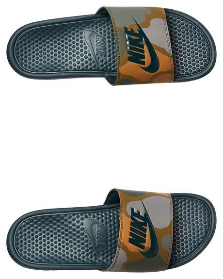 MIDNIGHT SPRUCE MENS FOOTWEAR NIKE SLIDES - 631261-300