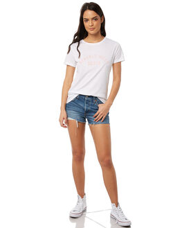 WHITE WOMENS CLOTHING TEE INK TEES - CAW1022WHT