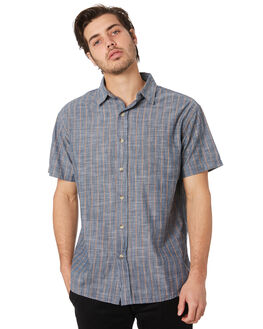 CHARCOAL STRIPE MENS CLOTHING MOLLUSK SHIRTS - MS1257CST