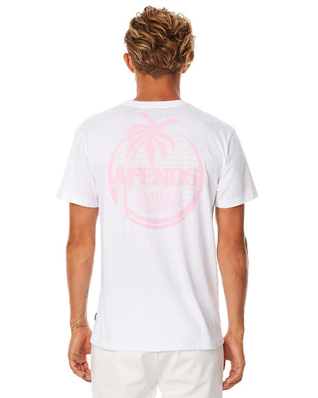 WHITE MENS CLOTHING AFENDS TEES - 01-01-288WHT