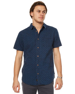 INDIGO MENS CLOTHING GLOBE SHIRTS - GB01714009IND