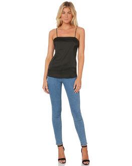 BLACK WOMENS CLOTHING LULU AND ROSE FASHION TOPS - LU23168BLK