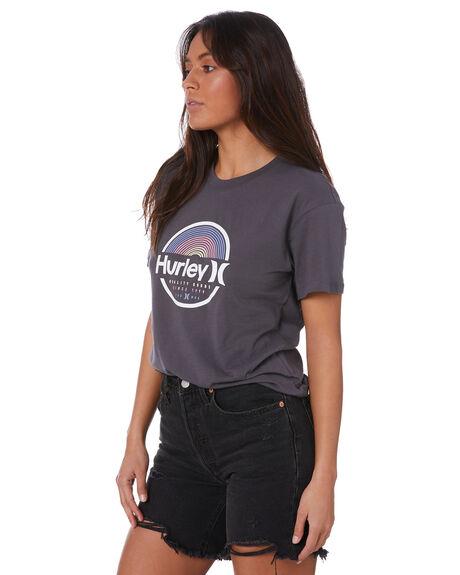 THUNDER GREY WOMENS CLOTHING HURLEY TEES - CV5510077